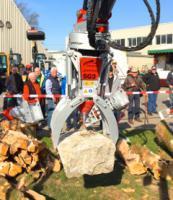 Foto 5 Kegelspalter mit Greifer Black Splitter SG3 / Holzspalter / Erdbohrer / Holzgreifer