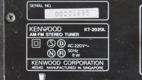 Foto 4 Kenwood Quarz Synthesizer AM-FM Stereo Tuner KT-2020L