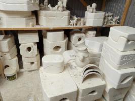 Foto 3 Keramikgießformen ca1500 Stück Gießformen für Flüssigton oder Keramik