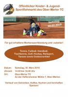 Kinder- & Jugendsportartikel-Flohmarkt  am Samstag, den 30. 03.2019 (14:00 – 16:00 Uhr)