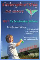 Foto 11 Kindergeburtstag Mülheim Party als Drachenbastel Event Workshop in Nrw