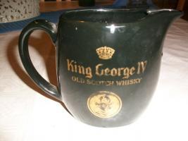 King Georg   Old Scotch Whisky  Krug Wasserkrug schwarz