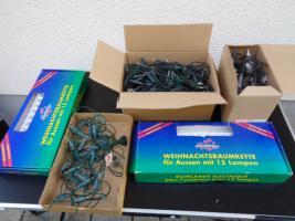 Kiste Weihnachtsdekoration 7 Lichterketten Elektrik Funktioniert
