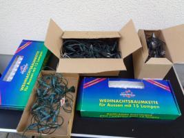 Foto 8 Kiste Weihnachtsdekoration 7 Lichterketten Elektrik Funktioniert