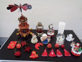 Kiste Weihnachtsdekoration Windpyramide+Spieluhr+ Elektrische Kerze u.v.m