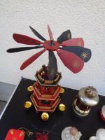 Foto 7 Kiste Weihnachtsdekoration Windpyramide+Spieluhr+ Elektrische Kerze u.v.m