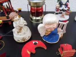 Foto 8 Kiste Weihnachtsdekoration Windpyramide+Spieluhr+ Elektrische Kerze u.v.m