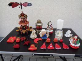 Foto 10 Kiste Weihnachtsdekoration Windpyramide+Spieluhr+ Elektrische Kerze u.v.m