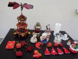 Foto 13 Kiste Weihnachtsdekoration Windpyramide+Spieluhr+ Elektrische Kerze u.v.m