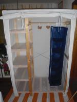 Foto 2 Kleiderschrank Stoff Weiß