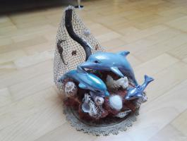 Kleine Skulptur (Dolphins)