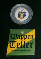 Kleiner Zinnteller  -  Wappenteller