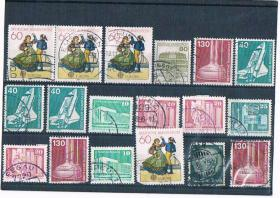 Kleines Briefmarkenset .
