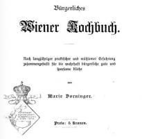 Buergerliches Wiener Kochbuch