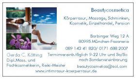 Kosmetik, Schminken, Massagen, Intimrasuren