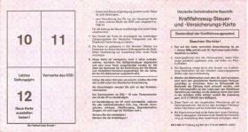 Kraftfahrzeug-Steuerkarte (DDR)