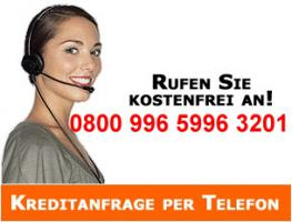 Kredit-Telefon 0800 996 5996 3201 gebührenfrei