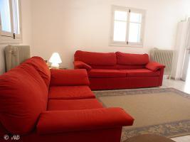 Foto 5 Kreta - Wohnzimmer mit Schlafcouch in Villa Portokali