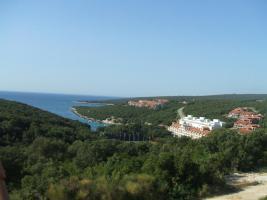 Kroatien, Istrien, Baugrundstück 400 m von Meer, schöne Meerblick
