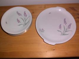 Foto 2 Kuchen- bzw. Gebäckplatte mit 6 Tellern von R KPM