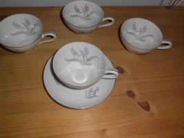 Foto 4 Kuchen- bzw. Gebäckplatte mit 6 Tellern von R KPM