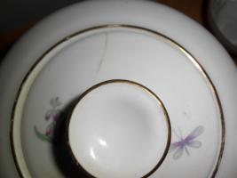 Foto 8 Kuchen- bzw. Gebäckplatte mit 6 Tellern von R KPM