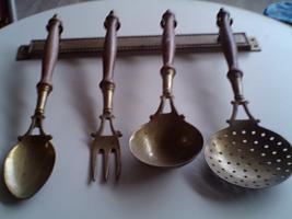 Küchenset, sehr alt - Messing