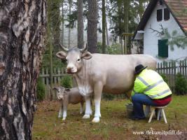 Foto 2 Kuh - Garty Party Melk Kuh lebensgroß
