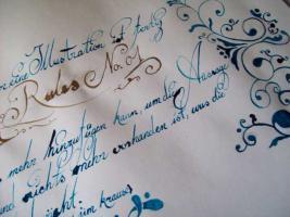 """Kunstkurs """"Faszination (freie) Kalligraphie"""""""