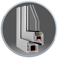 Kunststoff-Fenster 1Meter x1Meter