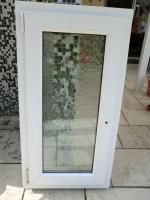 Kunststofffenster 59bx106h Milchglas rechts & links