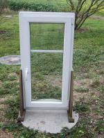 Kunststofffenster weiß  62 cm x 125 cm Dreh/Kipp DIN RE