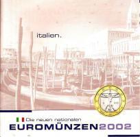 Kursmünzen-Satz Italien (Einführung des EURO 2002)