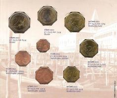 Foto 2 Kursmünzen-Satz Italien (Einführung des EURO 2002)