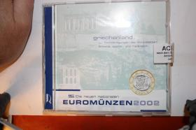 Kursmünzensatz Griechenland 2002 in bfr - Folder