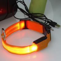 Foto 2 LED Leuchthalsband, Hundehalsband, Halsband aufladbar, mit Akku und USB-Kabel