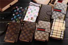 LV Gucci Leder Handytasche Schutzhülle für Iphone 4/4s/5/5s/5c Samsung S3/4/5 Note 2/3