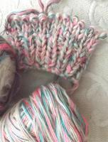 Foto 3 Lace - Beilaufgarn - stricken - ca 1.0 kg - koralle - pink - violett