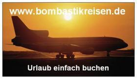 Lastminute unter 299 Euro auf der Startseite von www.bombastikreisen.de