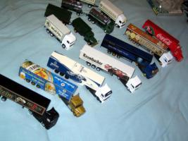 Lastwagensammlung mit 11 Lastwagen Biertransporter