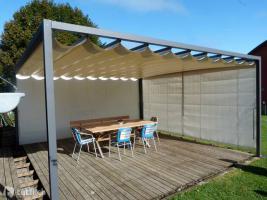 Laube Sonnensegel Terrassendach Gartenzelt 6x5