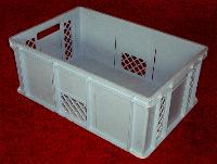 Lebensmittelechte Kunststoff-Stapelboxen (BxHxT 60 x 24 x 40 cm) in blau zu verkaufen