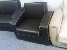 Foto 3 Leder Couchgarnitur 3+2+1 nur 550, -