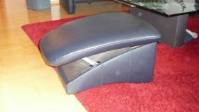 Foto 4 Ledergarnitur 3-er + 2-er +Sessel + Hocker