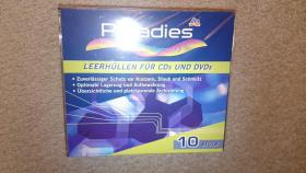 Leerhüllen für CDs und DVDs