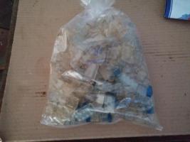 Foto 2 Lego Glasbausteine gemischte Größen mit Schrägsteinen