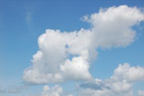 Leinwand Foto Himmel 60x40 cm Wolken Azur Weiß Blau