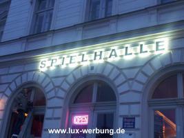 Foto 23 Leuchtreklame Leuchtwerbung Außenwerbung 3D LED Leuchtbuchstaben Einzelbuchstaben mit LED Beleuchtung Leuchtkästen Dibondkästen   Gewerbeimmobilien 3D LED RGB