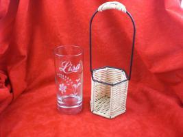 Longdrinkglas im Korb mit Gravur