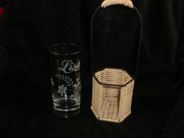 Foto 2 Longdrinkglas im Korb mit Gravur
